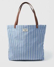 【日本未発売】【新品】アバクロ【Womans】 キャンバストートバッグ/Blue Stripe【Canvas Tote】【Abercrombie&Fitch】【本物保証】