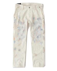 Abercrombie&Fitch (アバクロンビー&フィッチ) 日本未発売 ダブルニー ペインターパンツ (Straight painter jeans) メンズ (Cream) 新品