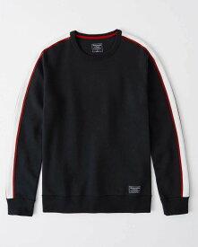 Abercrombie&Fitch 正規品 (アバクロンビー&フィッチ) クルーネック テープ スエット (Crewneck Tape Sweatshirt) メンズ (Navy Blue) 新品