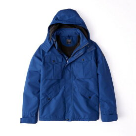 Abercrombie&Fitch (アバクロンビー&フィッチ) ミッドウェイト テクニカルジャケット(長袖)(Midweight Technical Jacket) メンズ (Blue) 新品