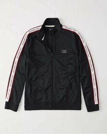Abercrombie&Fitch (アバクロンビー&フィッチ) ロゴライン入り トラックジャケット (Logo Tape Track Jacket) メンズ (Navy) 新品