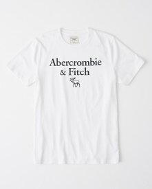 Abercrombie&Fitch 正規品 (アバクロンビー&フィッチ) ロゴ グラフィック Tシャツ (Logo Print Tee) メンズ (White) 新品