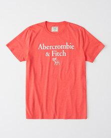 Abercrombie&Fitch 正規品 (アバクロンビー&フィッチ) ロゴ グラフィック Tシャツ (Logo Print Tee) メンズ (Coaral) 新品