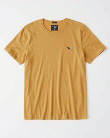 Abercrombie&Fitch 正規品 (アバクロンビー&フィッチ) クルーネックTシャツ (Icon Crew Tee) メンズ (Yellow) 新品