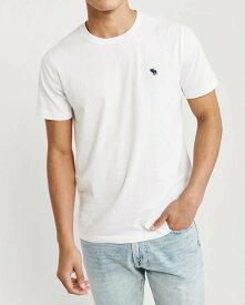 Abercrombie&Fitch 正規品 (アバクロンビー&フィッチ) クルーネックTシャツ (Icon Crew Tee) メンズ (White) 新品