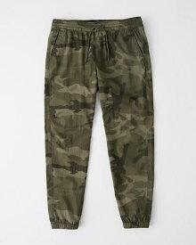 Abercrombie&Fitch (アバクロンビー&フィッチ) ナイロンジョガーパンツ (Nylon Jogger Pants) メンズ (Olive Green Camo) 新品