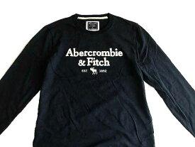 Abercrombie&Fitch (アバクロンビー&フィッチ) グラフィック スラブ長袖Tシャツ (ロンT) (Long-Sleeve Slub Logo Tee) メンズ (Navy Blue)