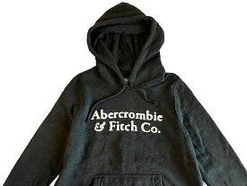 Abercrombie&Fitch (アバクロンビー&フィッチ) 正規品 アップリケ プルオーバーパーカー (フーディー) (Logo Hoodie) レディース (Dark Grey) 新品