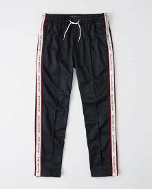 Abercrombie&Fitch (アバクロンビー&フィッチ) サイドライン トラックパンツ (Logo Tape Track Pants) メンズ (Navy Blue) 新品