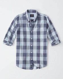 Abercrombie&Fitch (アバクロンビー&フィッチ) オックスフォードシャツ(長袖)(Buffalo Check Oxford Shirt) メンズ (Blue Check) 新品 日本未発売