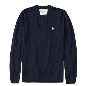 Abercrombie&Fitch (アバクロンビー&フィッチ) Vネックセーター (Icon V-Neck Sweater) メンズ (Navy) 新品