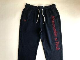 Abercrombie&Fitch (アバクロンビー&フィッチ) ロゴアップリケ スエットパンツ (Logo Applique Sweatpants) メンズ (Navy Blue) 新品 日本未発売
