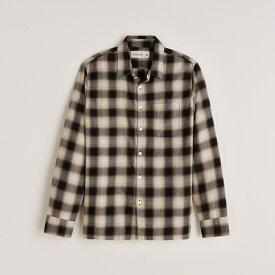 Abercrombie&Fitch (アバクロンビー&フィッチ) ライトウェイト フランネルチェックシャツ (ネルシャツ)(Lightweight Flannel Shirt) メンズ (Grey Plaid) 新品