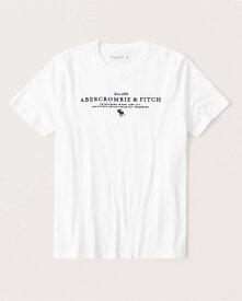 Abercrombie&Fitch 正規品 (アバクロンビー&フィッチ) ロゴグラフィック Tシャツ (半袖) (Graphic Logo Tee) メンズ (White) 新品 (softAF)
