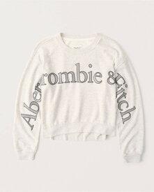 Abercrombie&Fitch (アバクロンビー&フィッチ) 正規品 ロゴアップリケスエット (長袖) (Exploded Logo Crewneck Sweatshirt) レディース (Light Heather Grey) 新品 softAF