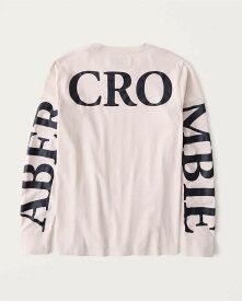 Abercrombie&Fitch (アバクロンビー&フィッチ) 正規品 バックロゴプリント 長袖Tシャツ (ロンT) (Long-Sleeve Exploded Back Logo Tee) メンズ (Light Pink) 新品 (softA&F)