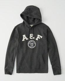 Abercrombie&Fitch (アバクロンビー&フィッチ) アップリケ プルオーバー パーカー(フーディー) (Graphic Hoodie) メンズ (Dark Grey) 新品