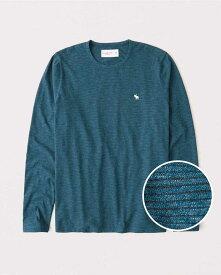 Abercrombie&Fitch 正規品 (アバクロンビー&フィッチ) Moose刺繍 ストライプ長袖Tシャツ(ロンT) (Long-Sleeve Striped Icon Tee) メンズ (Blue Stripe) 新品