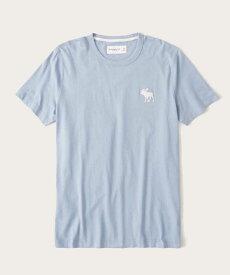 Abercrombie&Fitch 正規品 (アバクロンビー&フィッチ) ビックムース クルーネックTシャツ (Exploded Icon Tee) メンズ (Light Blue) 新品 (softA&F)