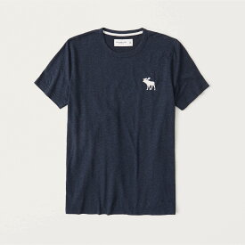 Abercrombie&Fitch 正規品 (アバクロンビー&フィッチ) ビックムース クルーネックTシャツ (Exploded Icon Tee) メンズ (Heather Navy) 新品 (softA&F)