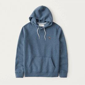 Abercrombie&Fitch (アバクロンビー&フィッチ) ムース刺繍 プルオーバーパーカー(フーディー) (Signature Icon Hoodie) メンズ (Dark Blue) 新品 (softAF)
