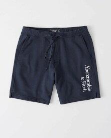 Abercrombie&Fitch (アバクロンビー&フィッチ) ロゴ刺繍 スエット ショーツ (Embroidered Logo Shorts) メンズ (Navy) 新品