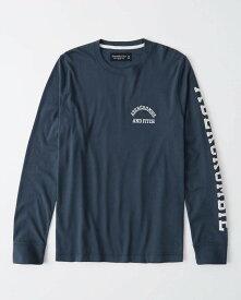 Abercrombie&Fitch (アバクロンビー&フィッチ) 正規品 バーシティー 長袖Tシャツ (ロンT) (Long-Sleeve Varsity Tee) メンズ (Navy) 新品 (softA&F)