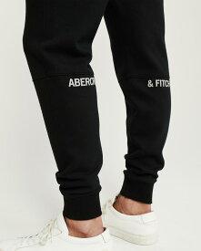 Abercrombie&Fitch (アバクロンビー&フィッチ) ジップポケット スエットジョガーパンツ (Zip Pocket Fleece Joggers) メンズ (Black) 新品
