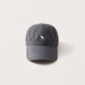 Abercrombie&Fitch (アバクロンビー&フィッチ) Moose刺繍ベースボールキャップ (Icon Baseball Hat) メンズ (Dark Grey) 新品