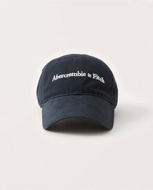 Abercrombie&Fitch (アバクロンビー&フィッチ) ロゴ刺繍ベースボールキャップ (Logo Baseball Hat) メンズ (Navy Blue) 新品