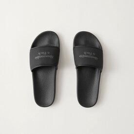 Abercrombie&Fitch (アバクロンビー&フィッチ) 正規品 ロゴシャワーサンダル (Logo Slides) メンズ (Black) 新品