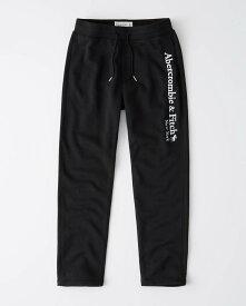 Abercrombie&Fitch (アバクロンビー&フィッチ) ロゴスエットパンツ (スエットパンツ) (Logo Sweatpants) メンズ (Black) 新品(softA&F)