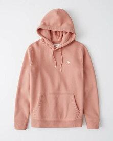 Abercrombie&Fitch (アバクロンビー&フィッチ) ムース刺繍 プルオーバー パーカー (Icon Hoodie) メンズ (Pink) 新品