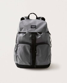 Abercrombie&Fitch (アバクロンビー&フィッチ) 正規品 ロゴ バックパック (Logo Backpack) メンズ (Grey) 新品