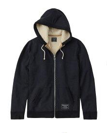 Abercrombie&Fitch (アバクロンビー&フィッチ) 裏ボア フルジップパーカー(フーディー)(Sherpa-Lined Full-Zip Hoodie) メンズ (Navy) 新品 (日本未発売)