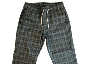 Abercrombie&Fitch (アバクロンビー&フィッチ) ストレッチ チェック ユーティリティーパンツ(Utility Pants) メンズ (Dark Grey Check) 新品