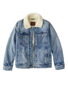 Abercrombie&Fitch (アバクロンビー&フィッチ) シェルパ デニムジャケット Gジャン(長袖)(Sherpa Denim Jacket) メンズ (Medium Destroy) 新品