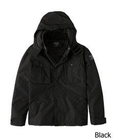 Abercrombie&Fitch (アバクロンビー&フィッチ) ミッドウェイト テクニカル ジャケット(長袖)(Midweight Technical Jacket) メンズ (Black) 新品