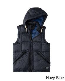 Abercrombie&Fitch (アバクロンビー&フィッチ) フード取り外し可能 ダウンベスト (Down-Filled Puffer Vest) メンズ (Navy) 新品