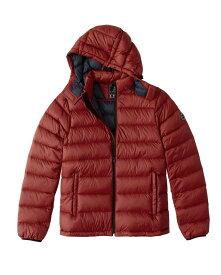 Abercrombie&Fitch (アバクロンビー&フィッチ) 取り外し可能フード パッカブルパファージャケット (Removable Hood Packable Puffer) メンズ(長袖)(Red) 新品 USAモデル