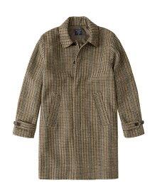 Abercrombie&Fitch (アバクロンビー&フィッチ) 千鳥柄 ウールコート (The A&F Dad Coat) メンズ (Tan Herringbone) 新品