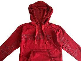 【新品】【日本未発売】アバクロ【Womens】両腕+胸ロゴアップリケ プルオーバーパーカー(フーディー)/Red【Logo Hoodie】【SoftAF】【Abercrombie&Fitch】【本物保証】【レディース】