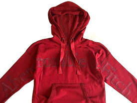 Abercrombie&Fitch (アバクロンビー&フィッチ) 日本未発売 両腕+胸ロゴアップリケ プルオーバーパーカー (フーディー) (Logo Hoodie) (SoftAF) レディース (Red) 新品