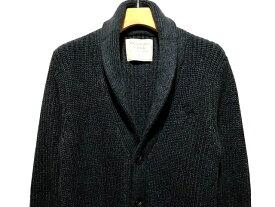 Abercrombie&Fitch (アバクロンビー&フィッチ) ビックムース刺繍 ショールカラー カーディガン (Shawl Cardigan) メンズ (Navy) 新品