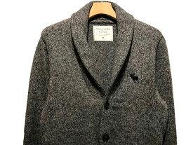 Abercrombie&Fitch (アバクロンビー&フィッチ) ビックムース刺繍 ショールカラー カーディガン (Shawl Cardigan) メンズ (Marled Grey) 新品