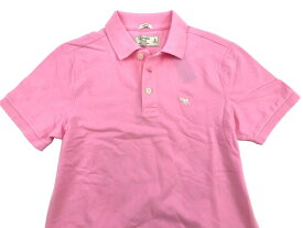 Abercrombie&Fitch (アバクロンビー&フィッチ) 正規品 ストレッチ鹿の子半袖ポロシャツ (Icon Strech Polo) メンズ (Pink) 新品 日本未発売
