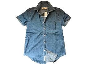 ◆【新品】アバクロ【Mensメンズ】半袖デニムシャツ/Medium Wash【Short Sleeve Denim Shirt】【Abercrombie&Fitch】【本物保証】