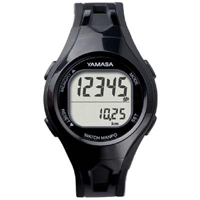 山佐時計計器(YAMASA) クォーツ腕時計型歩数計 ウォッチ万歩計 WATCH MANPO<ブラック×ブラック> TM-400 554017