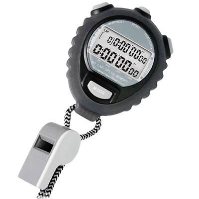 山佐時計計器(YAMASA) ホイッスル付きストップウォッチ<ブラック> TEV-4026Y 416414