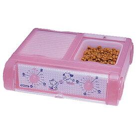 山佐時計計器(YAMASA) 自動給餌器 わんにゃんぐるめ(小型犬・猫兼用/2食分)<クリアピンク> CD-400 534019